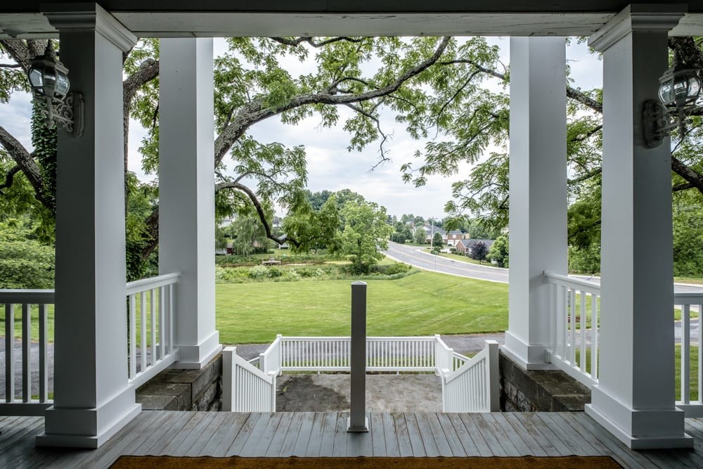 View of the surrounding land from the Manor House front porch